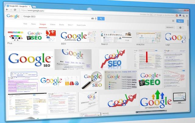 obrazovka s google ikonami