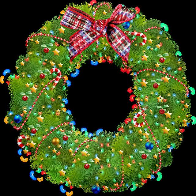 zdobený vánoční věnec